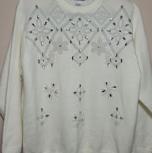 Vintage Alfred Dunner Sweater XL Beaded